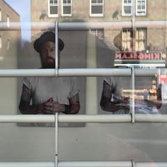 Richie Culver behind bars, Kingsland Road, East London  @richieculver