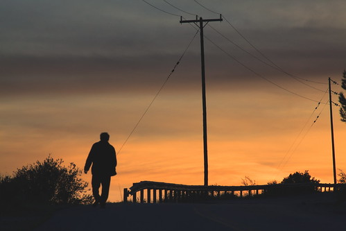 sky lines silhouette loneliness dusk poles