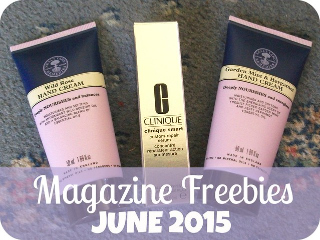 UK Magazine Beauty Freebies June 2015