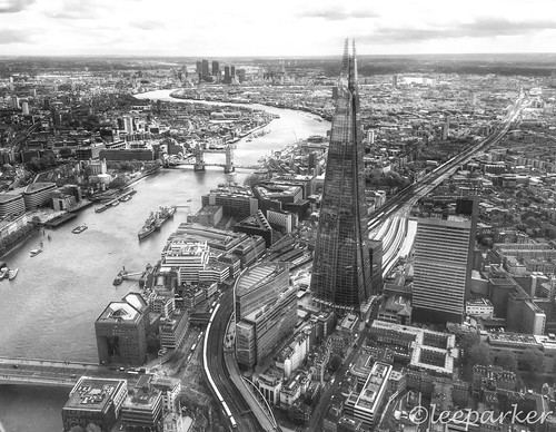 The Shard, Tower Bridge and the Thames.