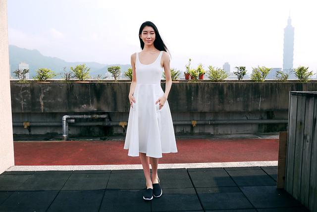 【日常穿搭】夏日純白系浪漫圓裙洋裝