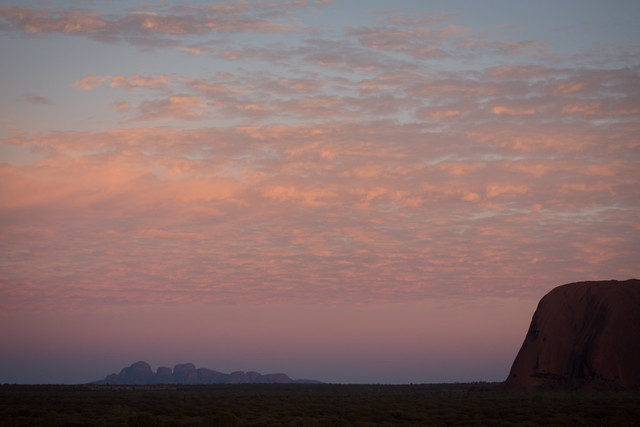 Uluru and the Olgas, Sunrise