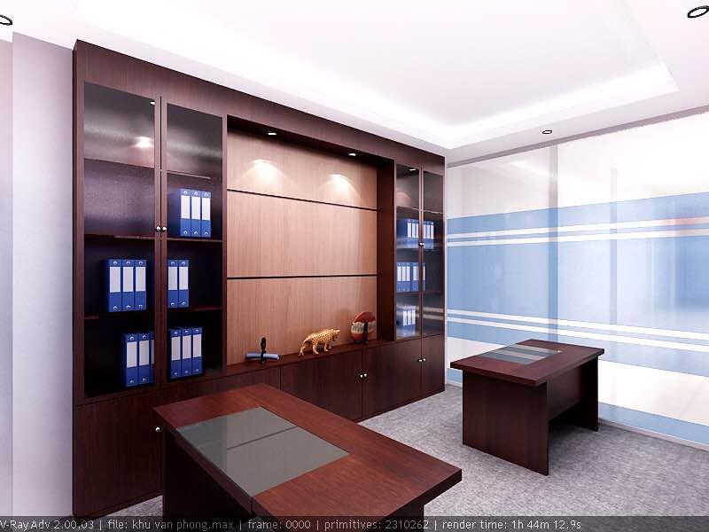 Thiết kế nội thất phòng giám đốc chi nhánh