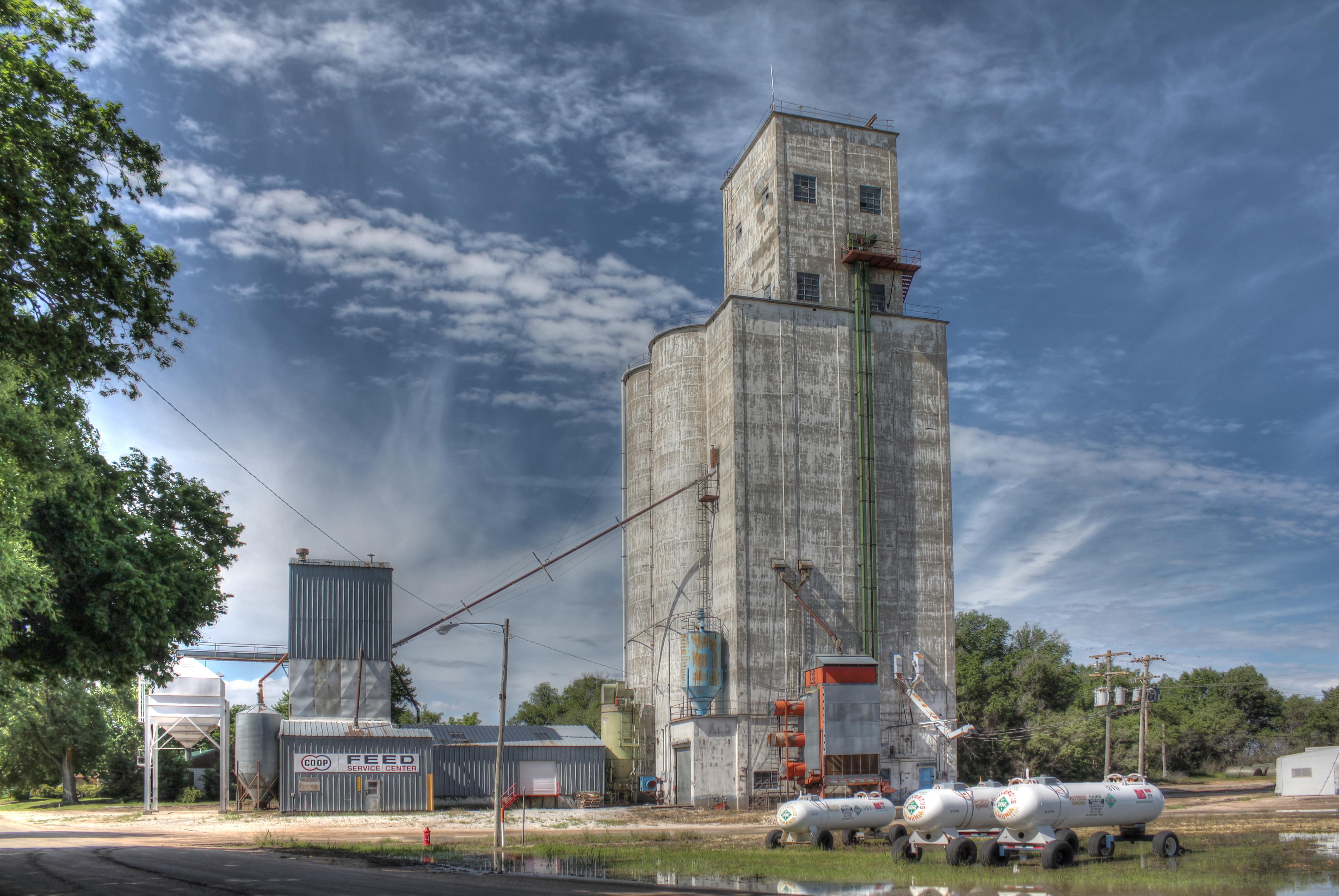 Kansas reno county turon - Elevator Grain Kansas Preston Hdr 3xp Photomatix