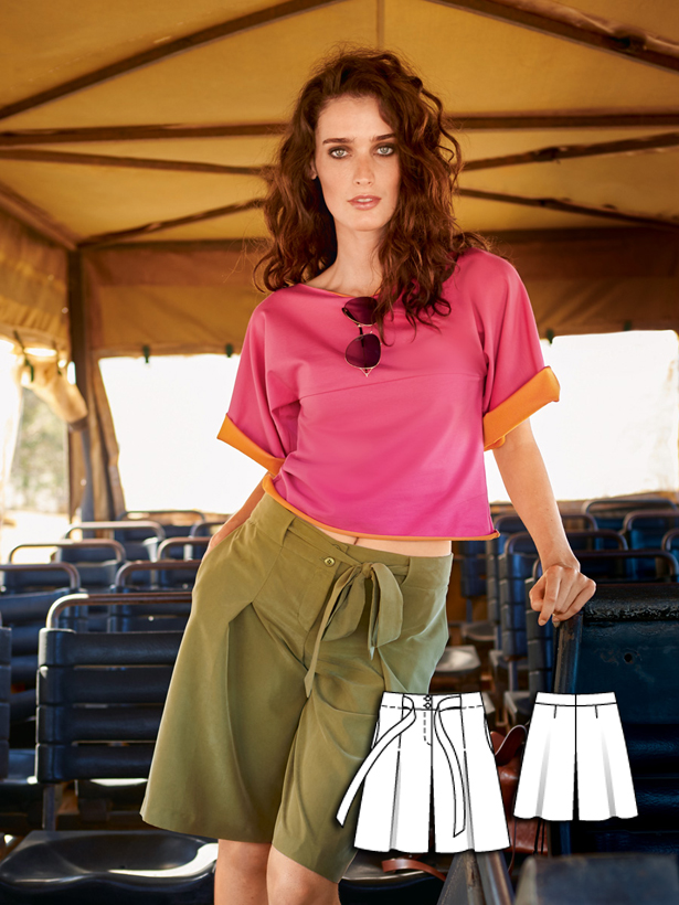 womens short sewing pattern 110B-062016-B