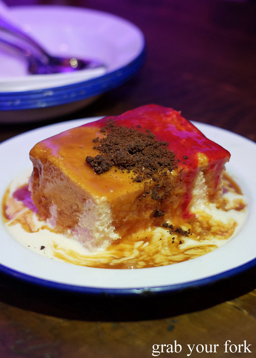 Tres leche cake at Pazar Food Collective, Canterbury