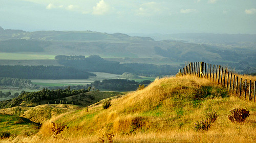 newzealand fence landscape hills