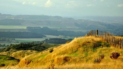 newzealand fence landscape hills