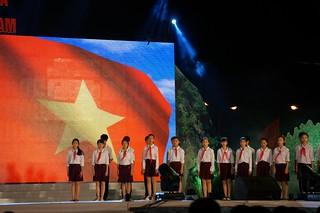 Children singing a patriotic(?) song