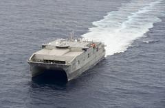 Expeditionary fast transport ship USNS Millinocket (T-EPF 3) file photo. (U.S. Navy/MCC Christopher E. Tucker)