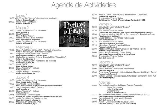 Actividades en los patios de Toledo 2015