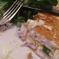 Crab & tallagio omelette