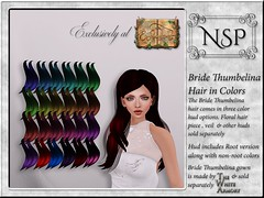 NSP Bride Thumbelina Hair - Colors