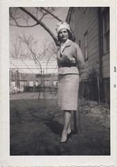 Clara posing in the Bronx, 1962