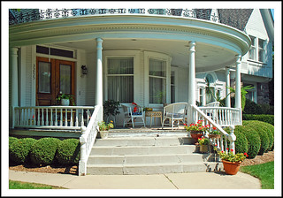 Front Porch - Dr. Robert Honey House in Dexter