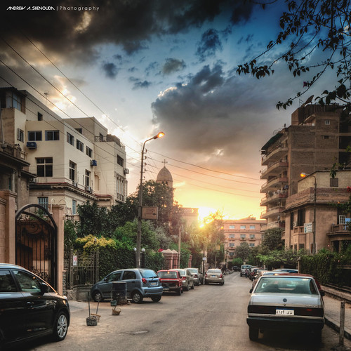 city sunset clouds cairo hdr egypte heliopolis