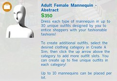 Adult Female Mannequin Abstract