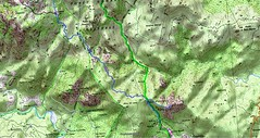 Carte du Jour 1 - tronçon de Conca/Radicale aux bergeries de Capeddu