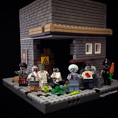 zombie corner with a little help from those peeps at FireStar Toys #lego #zombies #bricksofthedead
