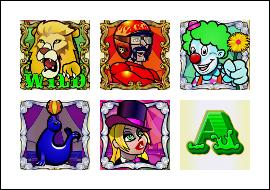 free Captain Cannon's Circus of Cash slot game symbols