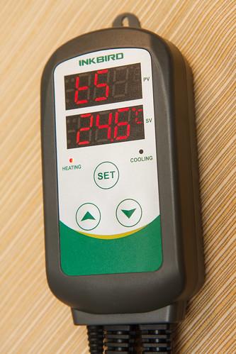 temperature set value on the Inkbird ITC-308 Temperature Controller