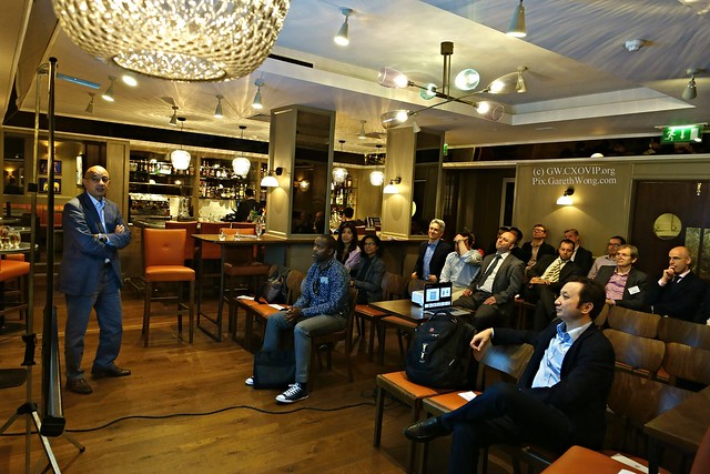 Samee Zafar, Director Edgar Dunn & Co MBA91, explaining Truth of FinTech at London Capital Club from RAW _DSC3167 We learnt much, video/podcast to follow