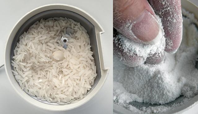 Zelf rijstmeel maken in een specerijenmolen