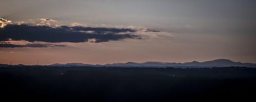 blue sunset mountains rock table head south ridge carolina caesars clemson