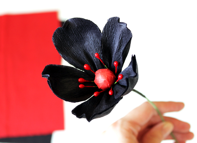 Black Paper Daisy by Vitamini Handmade