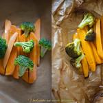 Печени зеленчуци в хартия за ядене с пръстчета