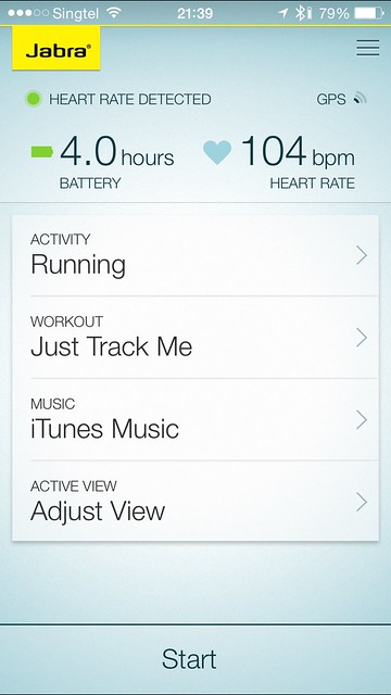 Jabra Sport Pulse - iOS App - Main