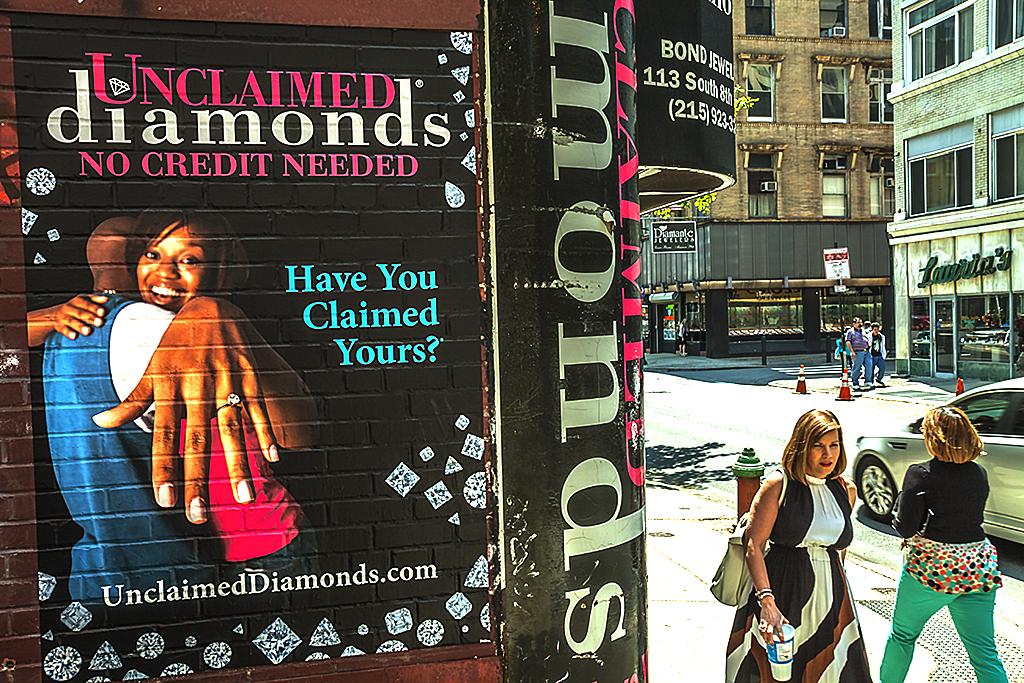 Unclaimed-diamonds-sign--Center-City
