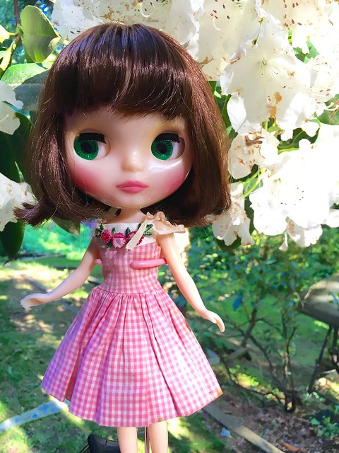 Little Mouse in the Garden with the rhododendrons. Dress: Skipper 1963