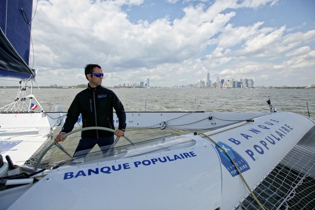 Maxi Solo Banque Populaire VII - Armel Le Cléac'h - NewYork 2014_Copyright C. Launay/BPCE