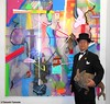 Dr. Takeshi Yamada and Seara (Coney Island Sea Rabboit) visited the Art NY at the Pier 94 in Manhattan, NY on May 3, 2016.  20160503Tue DSCN5517=3040pC