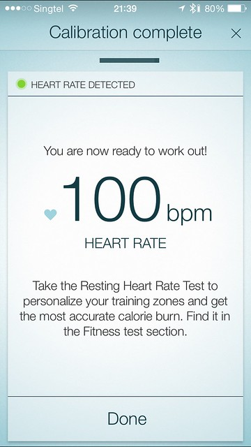 Jabra Sport Pulse - iOS App - Calibration Heart Rate