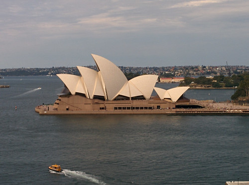 Sydney Opera House from the Harbor Bridge