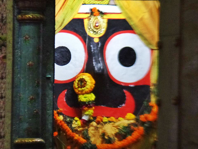 four idol of Lord jagannath inside jagannath temple