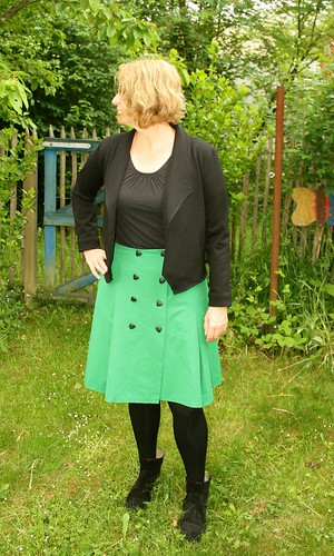 MMmay day 28 burda skirt  and Morris blazer my new love