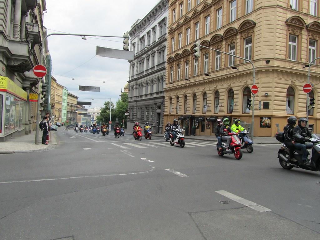 Motos en Praga