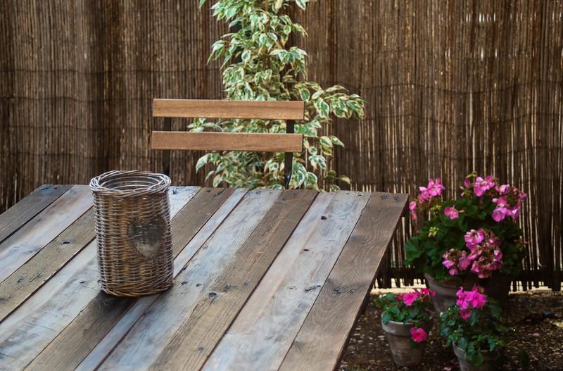 Mi mesa de madera de palets