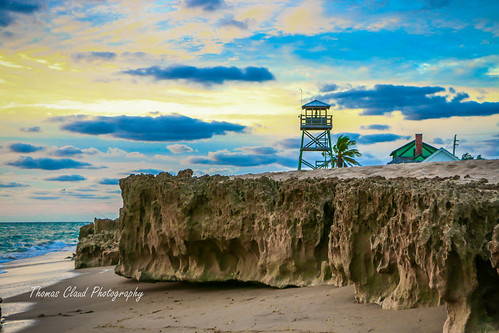 morning sky seascape tower beach clouds canon outside outdoors photography sand rocks florida bluesky stuart palmtree tropical tropics observationtower 70d houseofrefuge hutchinsonisland