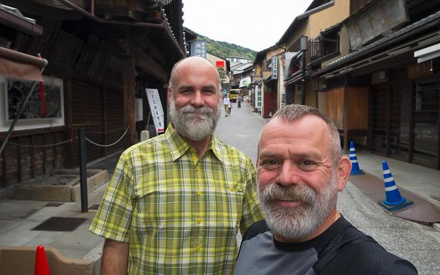 Up to Kiyomizu-dera temple
