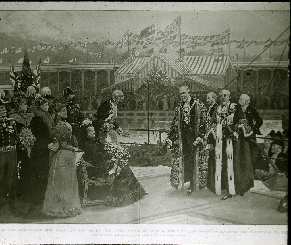 Opening of the Ship Canal by Queen Victoria 21st May 1894