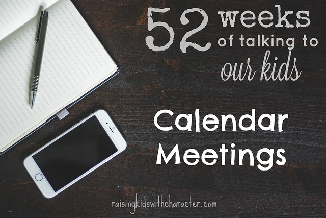 52 Weeks of Talking to Our Kids Calendar Meetings