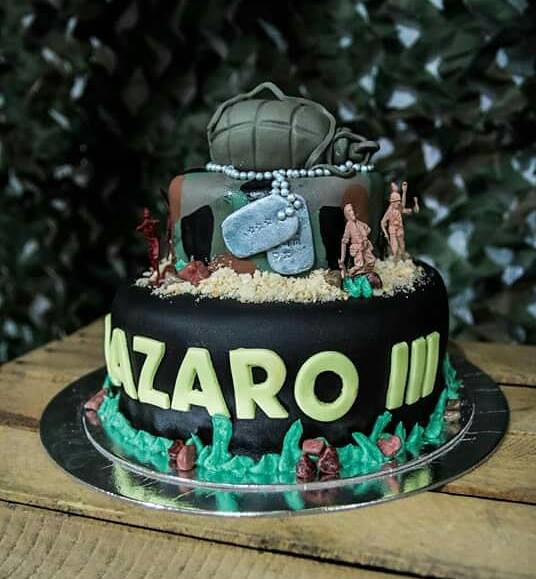 Camouflage Cake by Flerida Samson Manarang of Sugar Cups