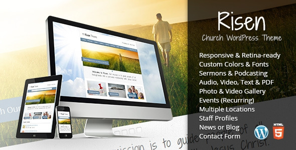 Risen v2.3.1 - Church WordPress Theme (Responsive)