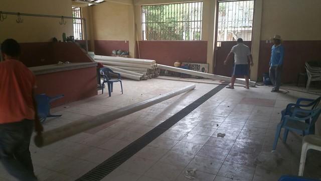 Tubería para ampliación de red de aguas servidas en Convento