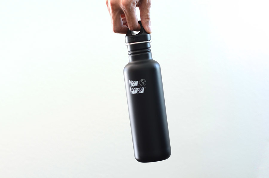 Klean Kanteen Water bottle on white background