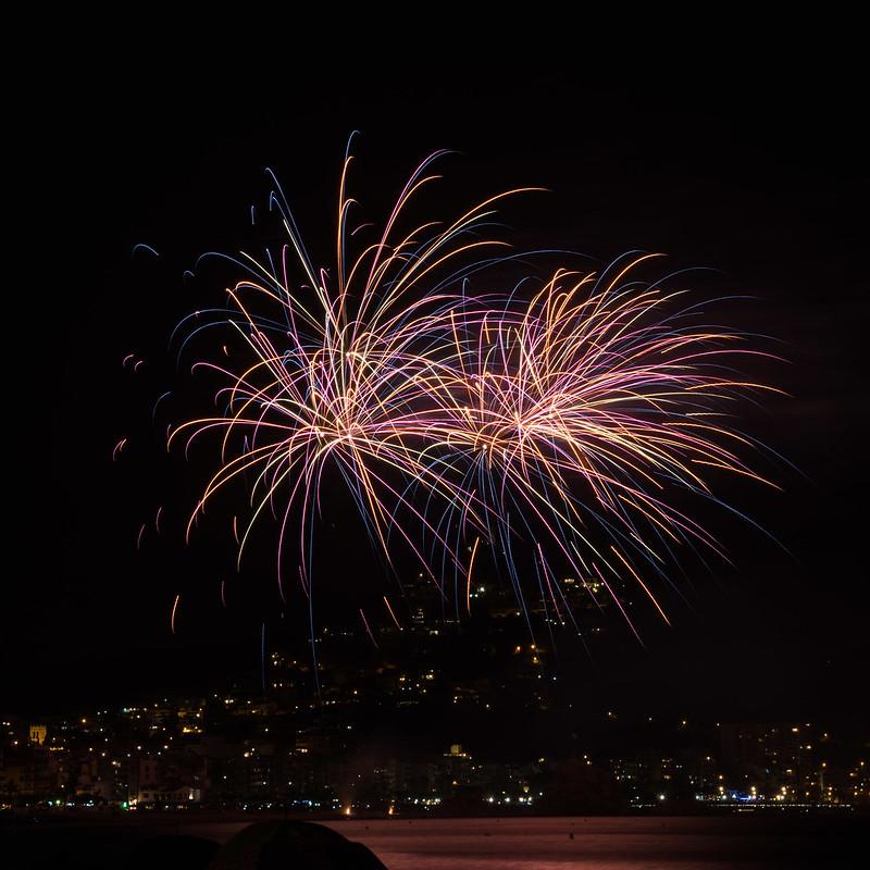 Feuerwerk-Wettbewerb in Blanes